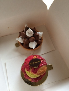 Cakes from our local French patisserie