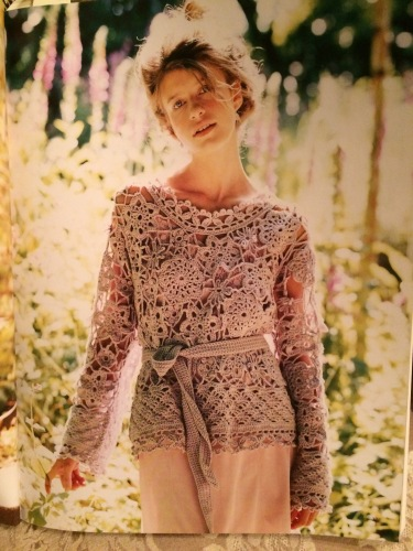Periwinkle Crochet Tunic by Marie Wallin