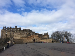 Edinburgh Castle and the esplanade