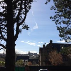 View of St Stephen's Church and Edinburgh Castle
