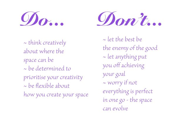 Creative space do and don't copy