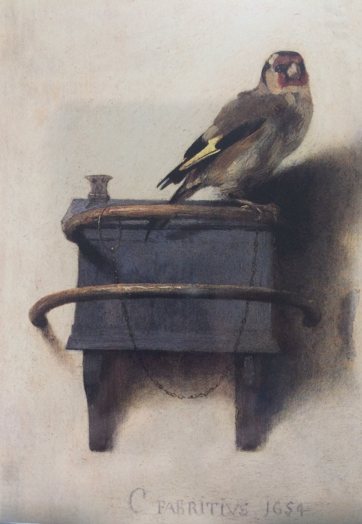 The Goldfinch 1654, Carel Fabritius (1622-1654) Currently on loan from the Royal Picture Gallery Mauritshuis to the Scottish National Gallery