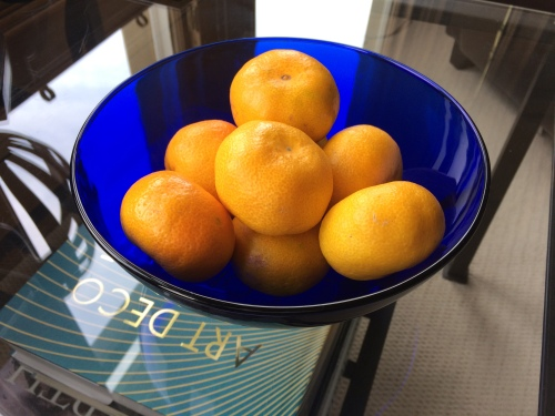 Satsumas in my favourite blue bowl