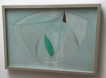 Barbara Hepworth: Curved Forms with Green (1943)